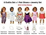 Clothing Accessories Luggage Best Deals - 13 Piece American Girl Doll Accessories - 18 inch Doll Clothes Accessories Outfit Set Fits American Girl by WEARDOLL