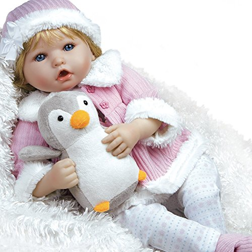 Toddler Lee Middleton Doll - Paradise Galleries Lifelike Reborn Baby Doll in Flextouch Silicone Vinyl Penguin, 22 inch Weighted Girl Doll, 7-Piece Doll Gift Set