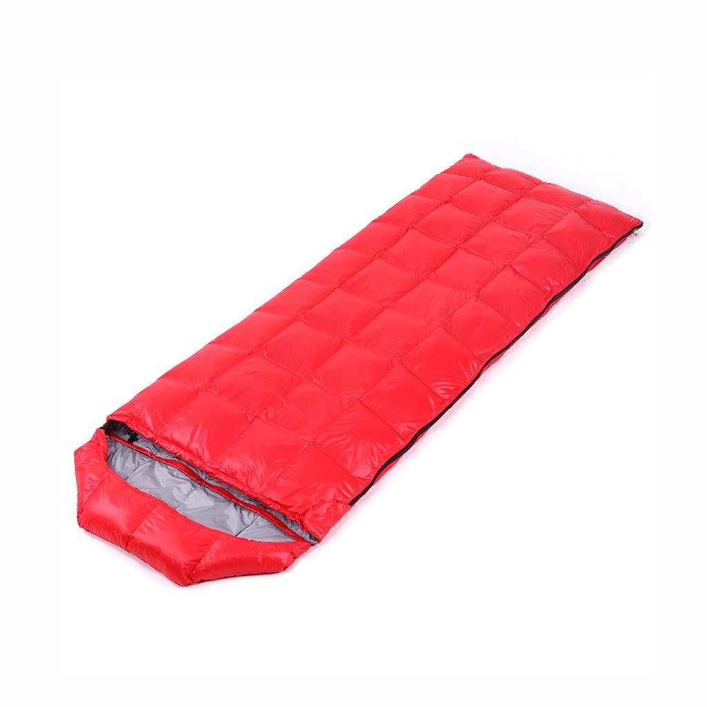 Saco de dormir LCSHAN Poliéster Engrosamiento cálido Acampar al Aire Libre Adulto Senderismo Impermeable (Color : Red): Amazon.es: Hogar