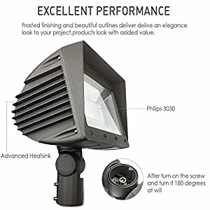 Docheer 150W LED Flood Lights,Outdoor Commercial Street Area Lighting 5000K, 100lm/W, Waterproof IP65, Daylight White