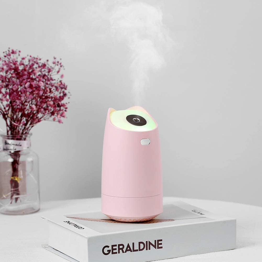 Cool Mist Humidifier with Adjustable Mist Mode Waterless Auto Shut off for Home, Office (Pink)