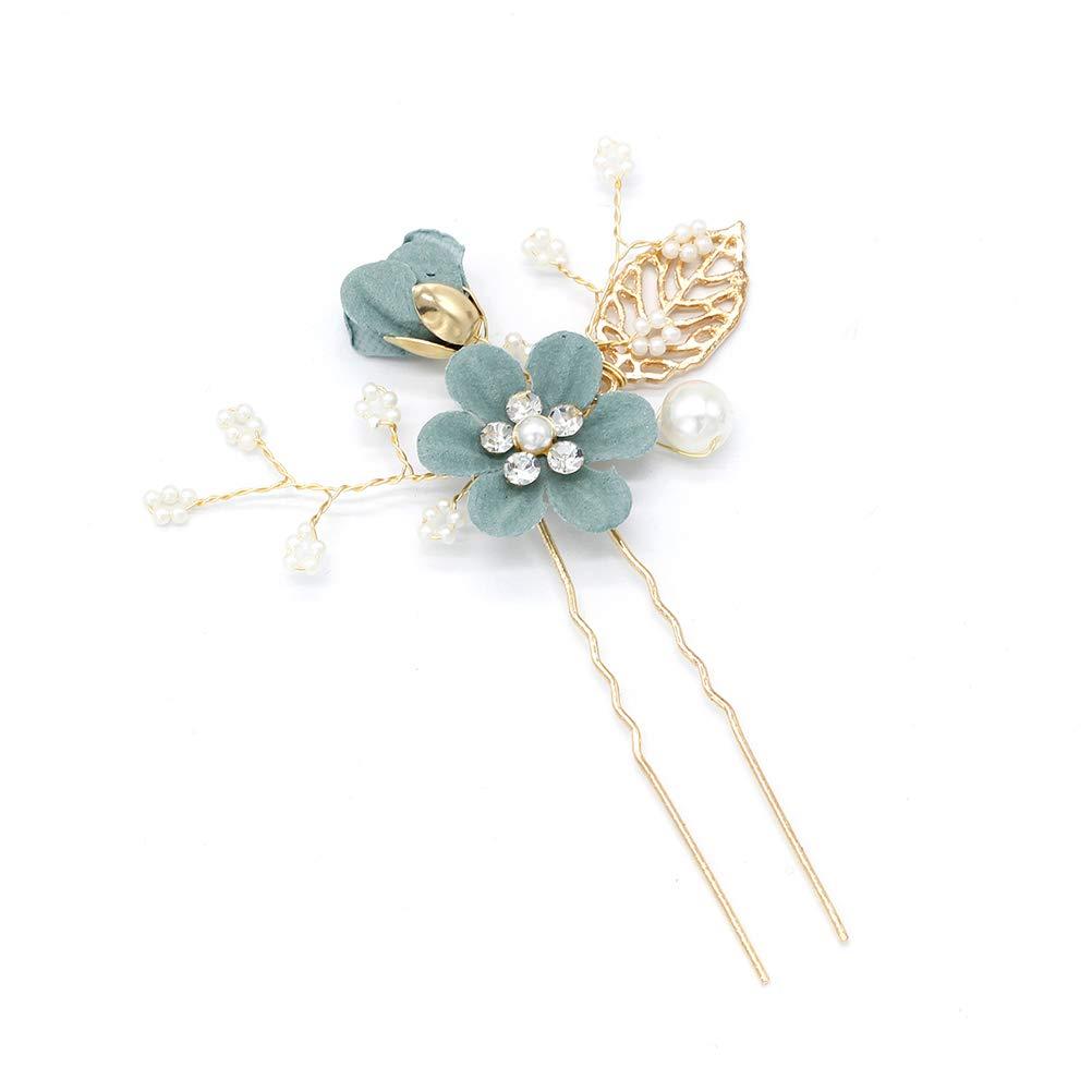 gr/ün Toyvian 4 st/ücke Strass haark/ämme floral Braut Kopfbedeckung Kristalle Stirnband dekorative Braut Stirnband Hochzeit abendhaar