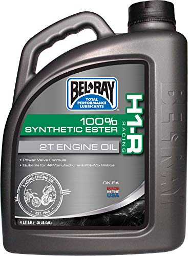 (Bel-Ray H1-R Racing 100% Synthetic Ester 2T Engine Oil - 4L. 99280-B4LW)