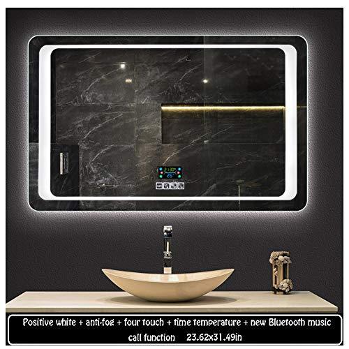 6080cm Illuminated LED Backlit Bathroom Mirror Light Sensor Touch Control with Demister - Shaver With Backlit Socket Mirrors Bathroom