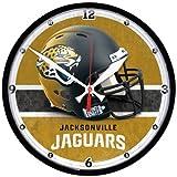 Nfl Football Team Chrome Wall Clock , Jacksonville Jaguars , 12-Inch