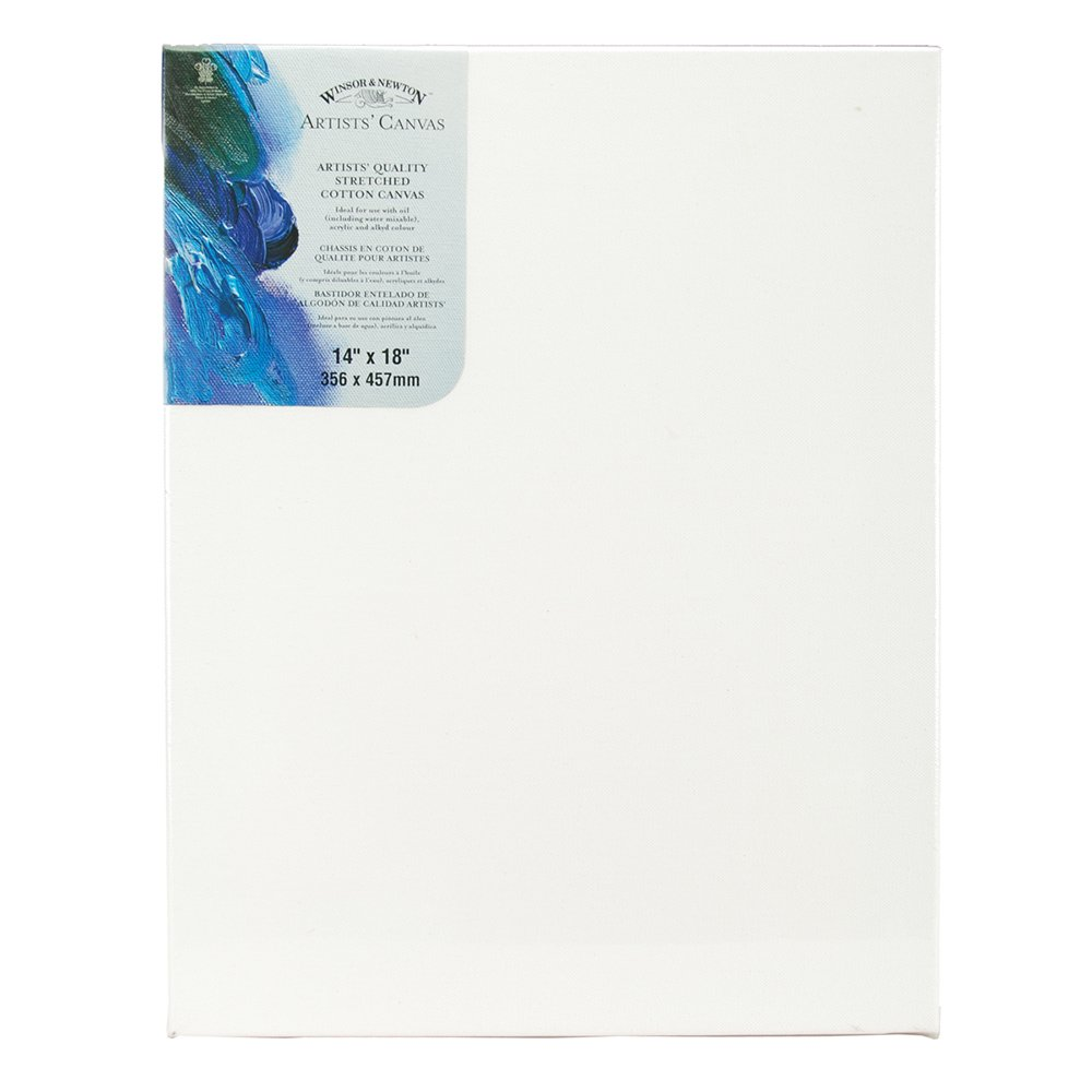 Winsor Newton 14-Inch by 18-Inch Artists Quality Stretched Canvas, White Notions - In Network 6005116