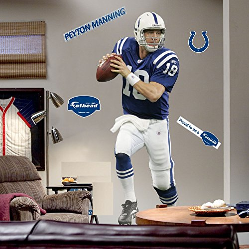 Colts Legends (Peyton Manning FATHEAD Indianapolis Colts Legend Official NFL Vinyl Wall Graphic LIFE-SIZE over 6 Feet)