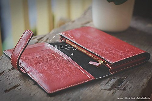 Prunus Flower hand tooled wallet for women | Personalized Vintage vegetable tanned leather handmade wallet