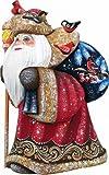 G. Debrekht Happy Traveler-Yuletide Hand-Painted Wood Carving Figurine