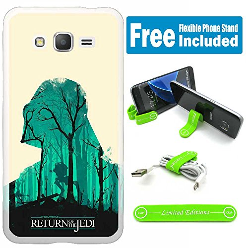 ([Ashely Cases] For Samsung Galaxy J7 Prime (2016 Released-NOT for T-Mobile/Metro PCS) Cover Case Skin with Flexible Phone Stand - Star Wars Sunset Green)