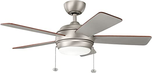 KICHLER 330171NI Protruding Mount, 5 Silver/Walnut Blades Ceiling fan on ceiling fans with lights wiring diagrams, hunter ceiling fans wiring diagrams, honeywell ceiling fans wiring diagrams,