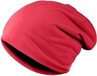 Jeerui Cappelli Invernali per Donne Berretti in Cotone Misto Hip Hop Caps Slouch Warm Hat Festival Berretto Unisex Turbante Tinta Unita Cappelli Berretto