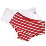 Polarn O. Pyret GIRL\&#039;S HIPSTER ECO BRIEFS<br /> 2-4 Years-Red and White