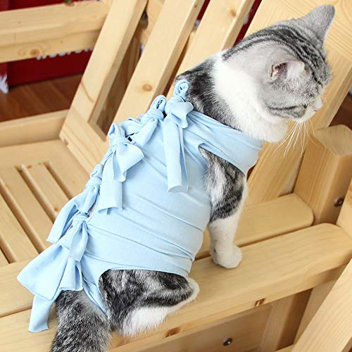 huyue2019 Cat cat pet Clothes Clothing After Sterilization Breathable Clothing Clothing Garment weaned pet Clothes Anti-Licking shanchu