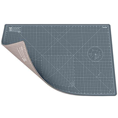 ANSIO Cutting Mat, Self Healing Cutting Mat, Hobby Cutting Mat, Sewing Cutting Mat, Double Sided 5 Layers Eco Friendly Cutting Mat Imperial/Metric 34 Inch x 22.5 Inch/89 cm x 59 cm A1 - Grey/Brown by ANSIO