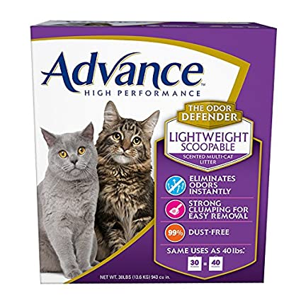 Advance High Performance Scented Lightweight Multi-Cat Litter Box, 30-Pound string