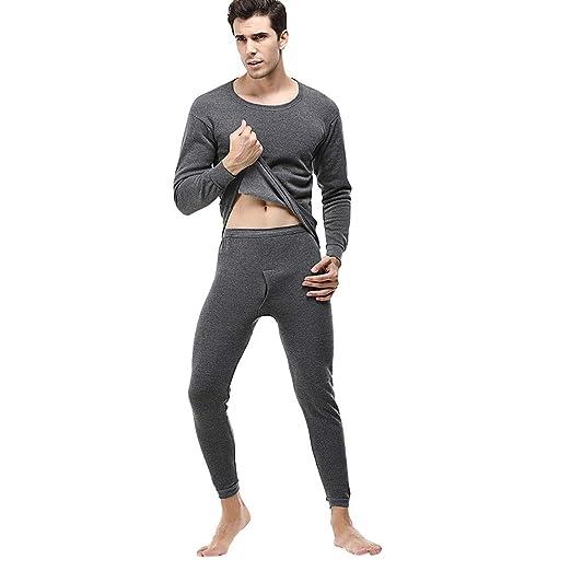 f8da21b5eaf7 Amazon.com  DEESEE(TM) Men Winter Thermal Suit Circular Collar Solid ...