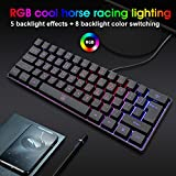 DGG K60 61 Keys RGB Backlit 60% Wired Gaming