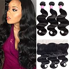 Service first Customer first. 1)Hair Material:100% unprocessed Brazilian human hair bundles with frontal 2)Hair Grade:10A Brazilian Virgin Hair3)Hair Color: Natural Black Color4)Chemical processing: None5)Hair weft: Machine Double Weft...