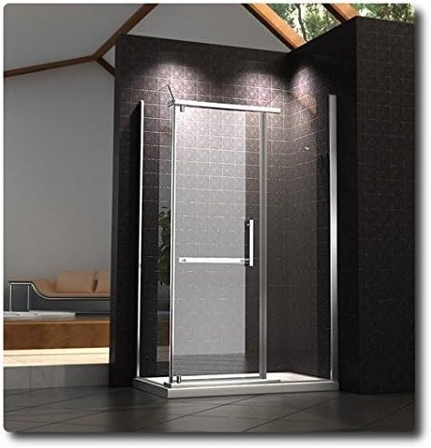Mampara de Baño de Cristal Transparente, 8 mm, 80 X 120 Tapa Vs Interior: Amazon.es: Bricolaje y herramientas