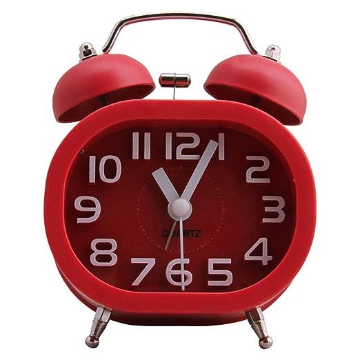 LIANGJIE Reloj de cabecera Creativo Reloj de Mesa mecánico Reloj ...