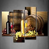 Various Wine With Grape Wall Art For Kitchen Painting Pictures Print On Canvas Food The Picture For Home Modern Decoration Picture