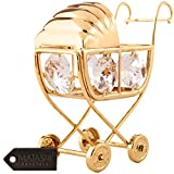 24K Gold Plated Crystal Studded Baby Bassinet