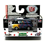 1965 Ford Econoline Van (Black with Flames) M2 Machines Wild Cards 2014 Castline 1:64 Scale Die-Cast Vehicle Set (WC07 14-70)