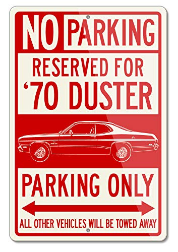 (Legend Lines Plymouth Duster 1970 Coupe Reserved Parking Only Aluminum Sign (Large))