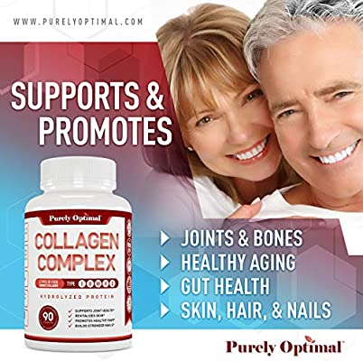 Premium Multi Collagen Peptides Capsules (Types I, II, III, V, X) - Anti-Aging, Hair, Skin and Nails, Digestive & Joint Health Supplement, Hydrolyzed Collagen Pills, Women & Men (90 Collagen Capsules)