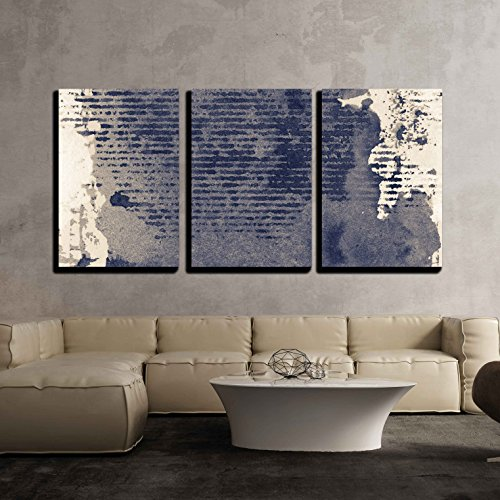 vas Wall Art - Abstract Grunge Background, Ink Texture. - Modern Home Decor Stretched and Framed Ready to Hang - 24
