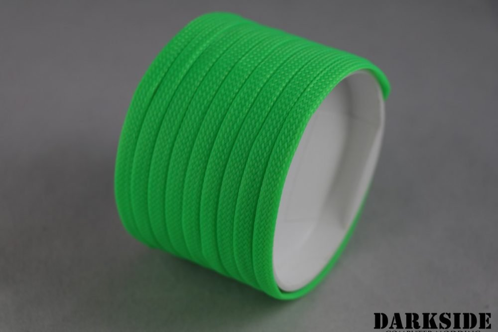 Darkside 6mm (1/4'') High Density Cable Sleeving - Green UV (DS-0694)