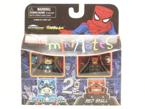 Marvel MiniMates Series 25 New Captain America and Red Skull Diamond Select
