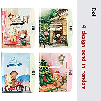 Amazon.com : | Notebooks | Cute Paper Diary Lock Notebook ...