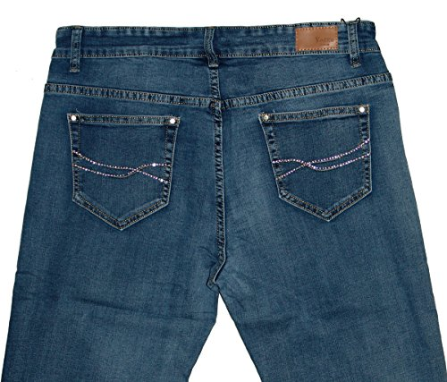 Blue Voggo Straight Denim 5009 Used Jeans Donna SSI4xZw6q