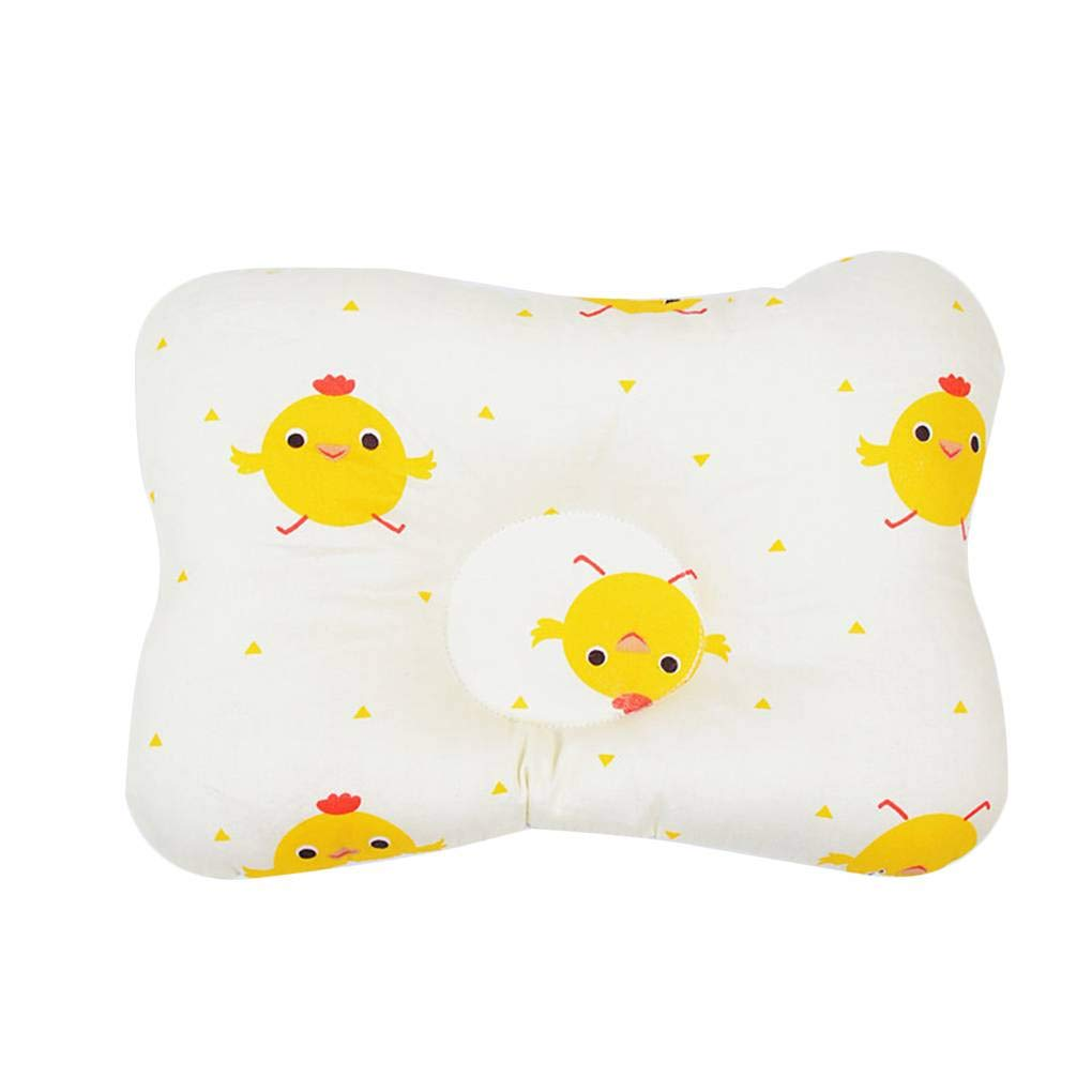 Floridivy Baby Infant Cotton Prevent Flat Head Shaping/Neck Support Pillow with 3D Breathable Mesh
