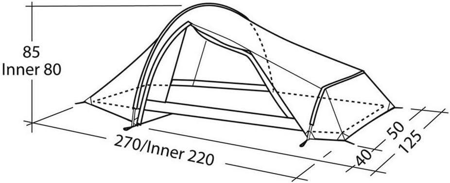 ROBENS Neu Goldcrest Allwetter Technisches 1 Person Zelt