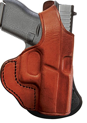 Tagua PD1-302 Paddle Holster Thumb Break, Glock 17-22-31, Brown, Right Hand ()