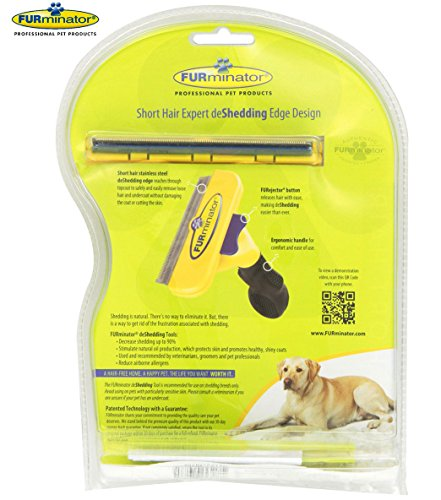 Short-Hair-deShedding-Brush-for-Large-Dogs-51-90-Lbs-4-Inch-Edge-Blade-FURminator-Grooming-Tool-Comb