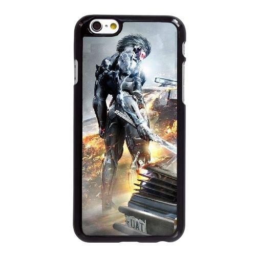 Metal gear O9K97 hausse poster Revengeance U9D2YE coque iPhone 6 4.7 pouces cas de couverture de téléphone portable coque noire WT1WIO4WP