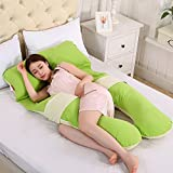 LUOTIANLANG cotton type U ergonomically designed pillow for pregnant women in pregnancy and lactation pillow adjusting detachable multifunctional pillow height,D,Free size