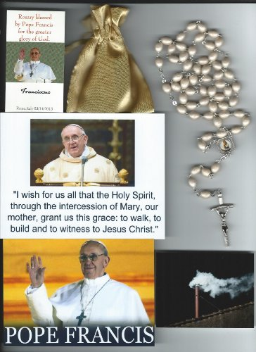 (Saint Germaine Cousins Relic Rosary Blessed by Pope Francis at 1st Mass Given by Him at Vatican's Sistine Chapel also Includes Photographs of Mass & of the Conclave the Day)
