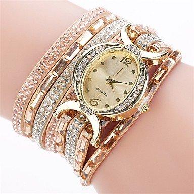 Fashion Watches Relojes Hermosos, Mujer Simulado Diamante Reloj Reloj Pulsera Reloj de Moda Chino Cuarzo