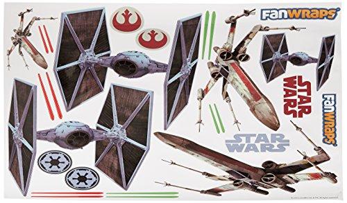 FanWraps Star Wars TIE/X-Wing Vehicle Graphics Kit, Large
