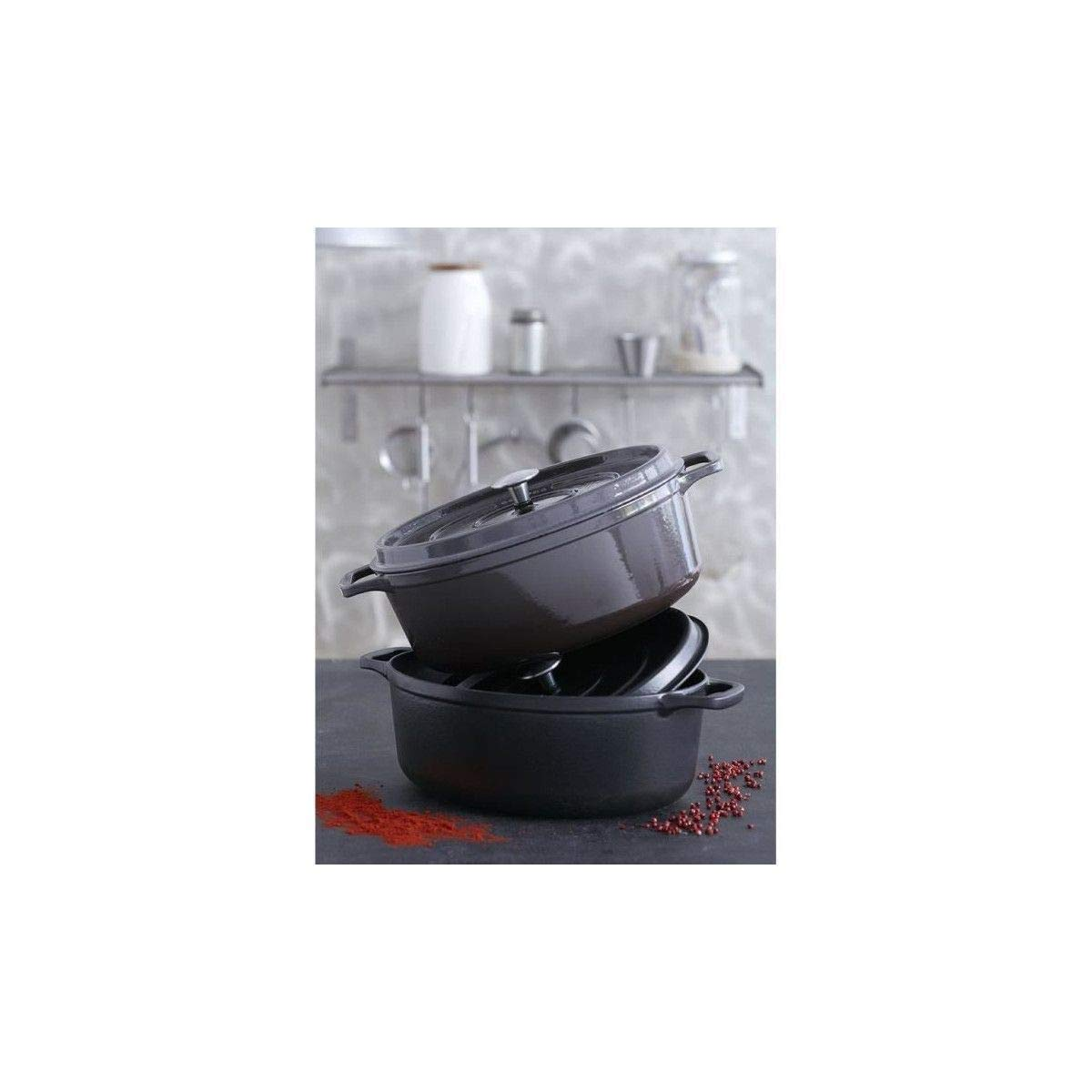 Invicta puv403311 Daubi/ère en fonte /émaill/ée 31cm noir mat