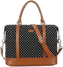 bab2a204fef4 BAOSHA HB-28 Ladies Women Canvas Travel Weekender Bag Overnight ...
