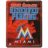 MLB Miami Marlins Metal Parking Sign
