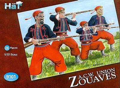 American Civil War Union Zouave Set #2 (18) 1/32 Hat -  Hat Industries Inc., 9101