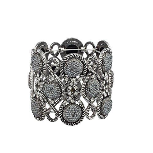 lux-accessories-burnish-pave-grey-caviar-glitter-stone-boho-glitz-stretch-bracelet