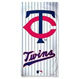 "White 30"" x 60"" Pinstripe Minnesota Twins Beach Towel"